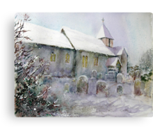 Snowy All Saints Canvas Print
