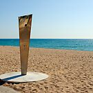 Shower on Empty Beach, Costa Brava, Spain by Petr Svarc