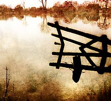 Fence reflection by Manfred Belau
