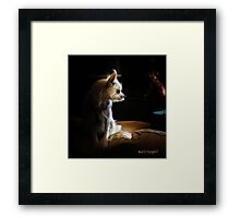 Contemplations of the Princess Framed Print