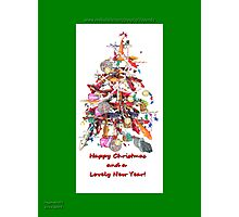 KOI Tree Chirstmas Card  Photographic Print