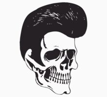Rockabilly Skull by Karl Whitney