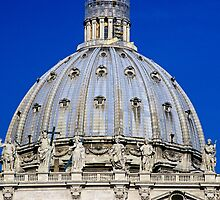 Dome of St. Peter's Basilica in Vatican by Petr Svarc