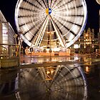 Manchester Wheel Reflection by Stephen Knowles