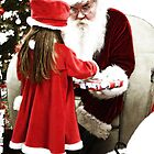 Santa n Lil Girl by Karl Baitz