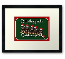 Little Things Make Christmas Special Rottweiler Greetings Framed Print
