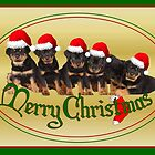 Merry Christmas Rottweiler Puppies by taiche