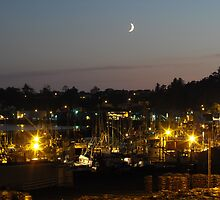 Night time on the bayfront... Newport Bay, Oregon by shawnmanji