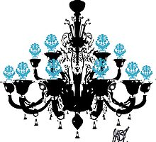 Chandelier Black Blue by greggtf
