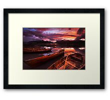 Sunset on Derwent Water, The Lake District Framed Print