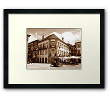 Off the fountain;......Ponte de Lima Village series I !... Framed Print