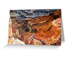 Mule Train at the Grand Canyon Greeting Card