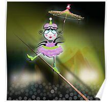 The Fleas Circus - The Tightrope Jumper... ehr, Walker Flea Poster