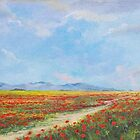 Poppy Field by Sinisa Saratlic