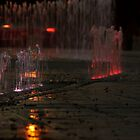 Fountain Lights by becky-lou
