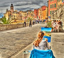 painter in Camogli by oreundici