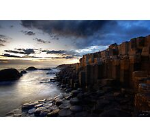 At The Giant's Causeway Photographic Print