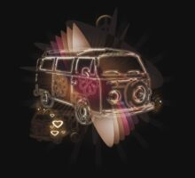 VW Combi Surfing Style Tee by Smurfesque