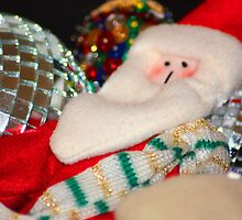 Father Christmas Relaxing amongst the toys by Lynn Ede