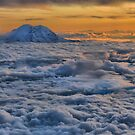 Sunset on Rainier  by Larry Davis