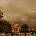 Stormy skies over Paris by Louise Fahy