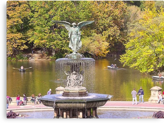 Bethesda Fountain in Central Park by Lawrence Henderson