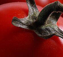 Cherry tomato close up by Derivatix