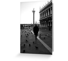 Just him and the birds....... Greeting Card