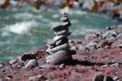 Rock Sculpture by the River by Tori Snow