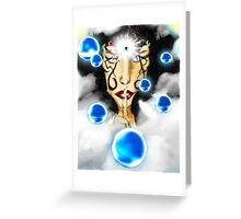 Goddess of The Cycles: Quieting the Storm Greeting Card