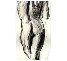Sketch in  charcoal of a nude male model   2232 views @ Nov 6 2009 Poster