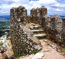 Stone wall of the Moorish Castle by Adri  Padmos