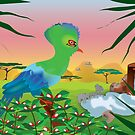 Turaco (Knysna) and African landscape by 4Flexiway