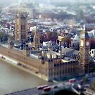 London Tilt Shift Model by babibell
