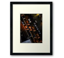Taxi Ride Framed Print