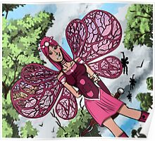 Pink fairy Poster
