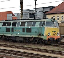 The railroad engine of the class SU 45 of Polish railways. by trainmaniac