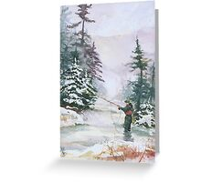 "Winter Magic - A very ""Wintery"" and Calm Fishing Scene Greeting Card"