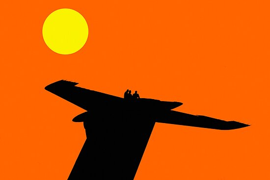 Blue Angels in Silhouette by BigD