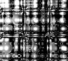 Submerged Spheres (B&W) by Chris Bigelow