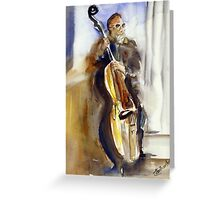 """The player- """"Basin Street Blues"""" Greeting Card"""