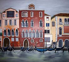 Venice on a rainy winter day by Alison McDonald