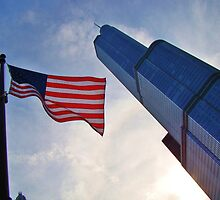 Trump Tower with Stars & Stripes by JCBimages