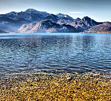 Kochelsee and Herzogstandberg Germany by Daidalos
