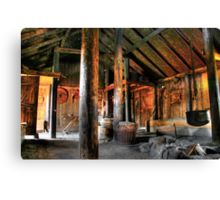 """Viking Village Hall"" Canvas Print"