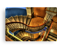 Vertigo - QVB Building (Colour)- The HDR Experience  Canvas Print
