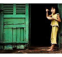 Girl with Red Spoon 0102 Photographic Print