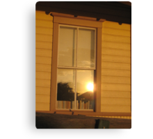 Sunset Reflecting in the Window Canvas Print