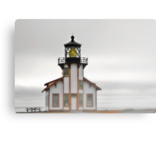 Point Cabrillo Lighthouse, California, in Fog Canvas Print