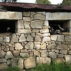 Old shed with rock walls by IlkaW